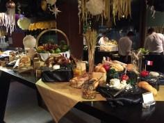 Buffet de Reveillon do Royal Orchid Sheraton Hotel de Bangkok
