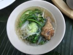 Sopa servida no Le Palais Juliana em Luang Prabang, Laos