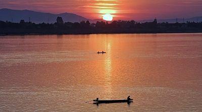 Atardecer-Mekong