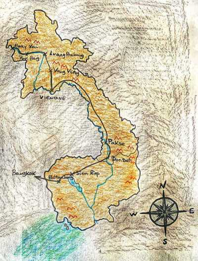 Ruta viaje Laos Camboya