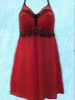 красная ночная сорочка