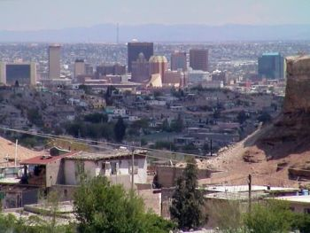 A view into El Paso, from Juarez