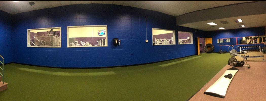 Athletic turf room