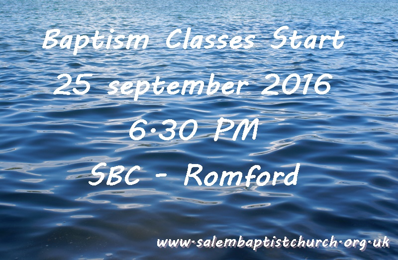 Baptism classes start today