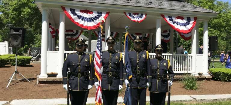 Salem Police Department Honor Guard and Motor Unit Lead Memorial Day Parade