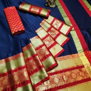 Soft Cotton Silk Roshani Design Saree