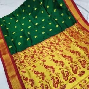 Tana Silk Paithani Semi Maharani Saree Design (Range-2)