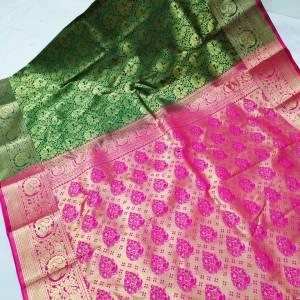 Kanchi Brocade Silk Paithani Saree