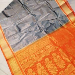 Semi Silk Kanjivaram Saree (Range-2) – Silver