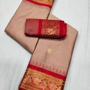 Meena Peacock Border Sico Paithani Saree (Range-2) – Pink