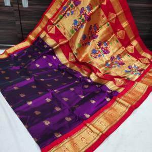 Shreya Kadiyal Silk Paithani Saree