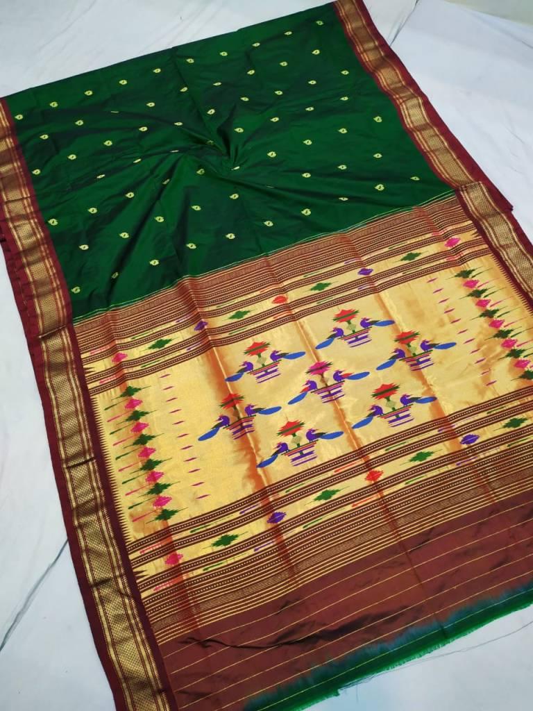 pure silk handloom paithani