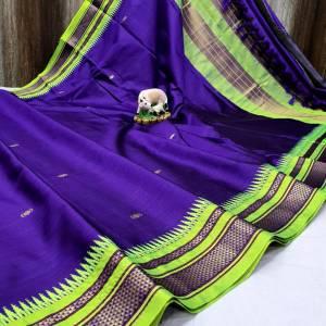 Irkal Sico Silk Designer Paithani Saree
