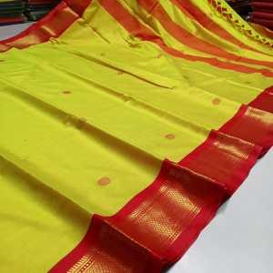 All Over Meena Booti Sico Silk Paithani Saree