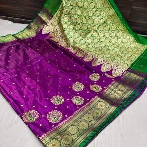 Banarasi Shalu Shine Silk Saree (Range -2)