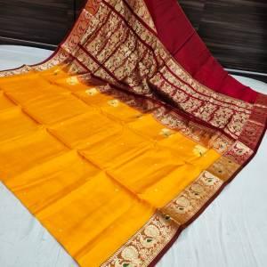 Pure Silk Peshwai Paithani Saree (Range-2) – Gold
