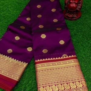 Designer Semi Silk Mhalsa Paithani Saree