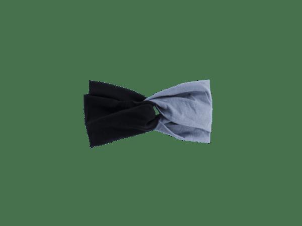 gray and black headband