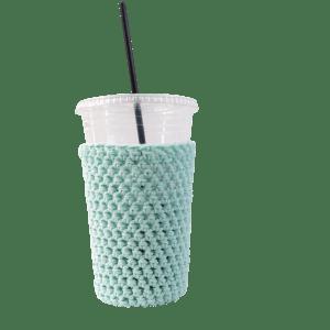 mint iced coffee cozy