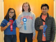 Glenvar High students, left to right, Dhruvi Patel, Logan Dunkenberger and Rafid Mirza. Submitted Photo