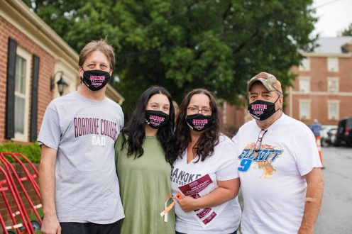 Incoming students were given a welcome bag consisting of Roanoke College masks, hand sanitizer, water bottles and snacks.