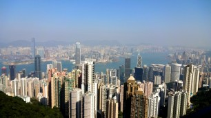 View of HK from Victoria Peak.
