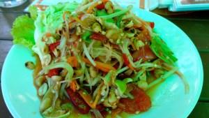 Som Tam, Green Papaya Salad.