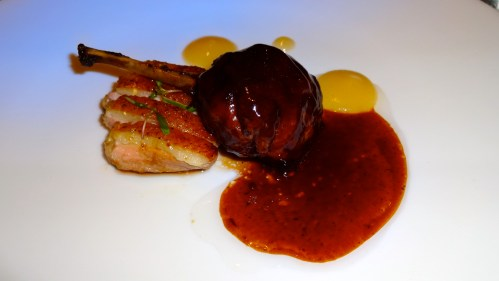 Duck Breast with Duck Confit and Pears.