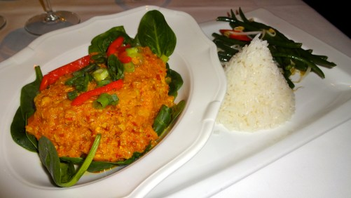 Fish with Curry.