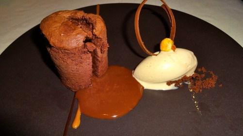 Warm Chocolate Cake with Stout Ice Cream, Oh My!