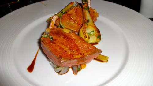 Spiced Squab with Artichokes and Ale.