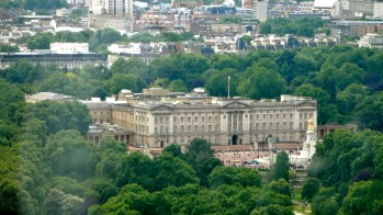 View of Buckingham Palace from the London Eye.
