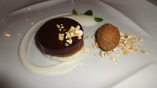 Chocolate Cake with Gianduia and Chestnut.