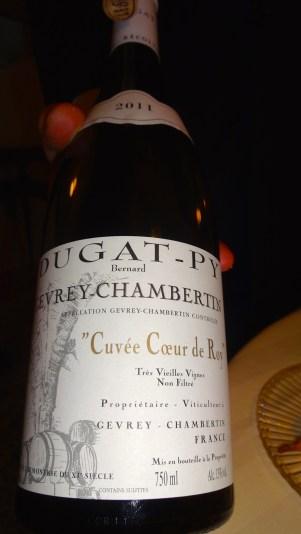 Third Wine of the Tasting.