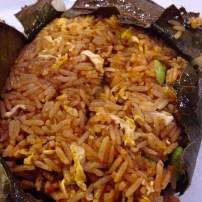 Fried Rice in Lotus Leaf.