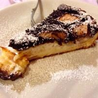 Pear, Chocolate, and Ricotta Cheesecake.