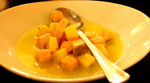 Salmon with Pineapple.