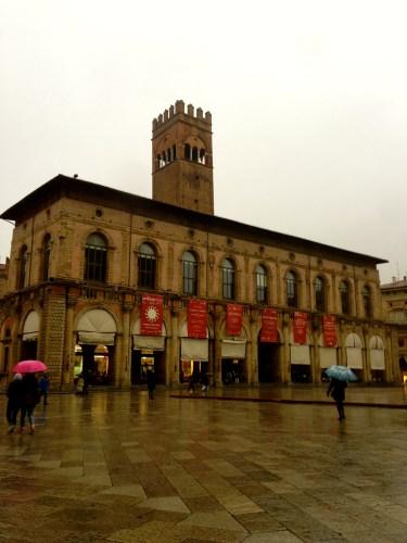 Piazza Maggiore, the Main Square.
