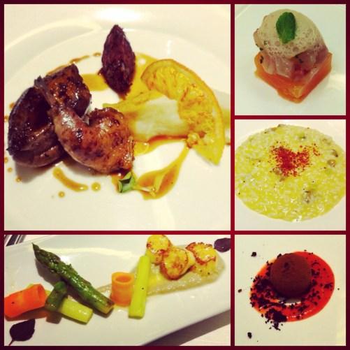 Wine Themed Dinner Menu.