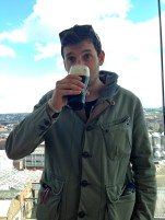 Woo, First Guinness at the Gravity Bar.