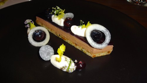 Duck Liver Mousse, Blueberry, Turnip, and Celery (8.5/10).