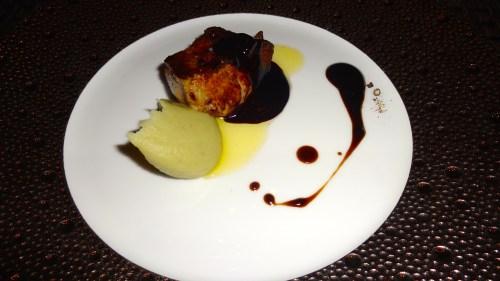 Foie Gras with Espresso Sauce and Artichoke Purée (8/10).