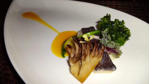 Medai: Japanese Wild Butterfish with Maitake Mushroom and Fried Kale (7/10).