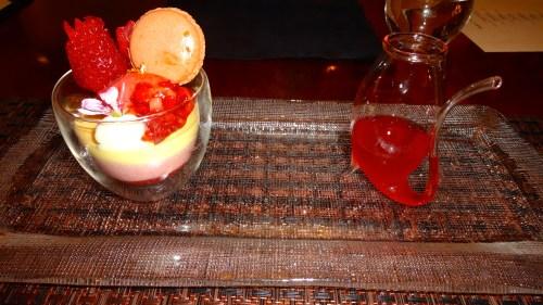 Strawberry Parfait with Strawberry Juice (8/10).