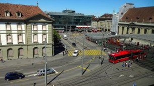 View of the Train Station from My Room.