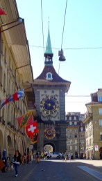 Zytglogge: Clock Tower from the Other Side.