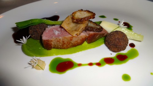 Veal with Morel Mushrooms, Spring Onion, and Ricotta Cheese Truffles (8.5-9/10).