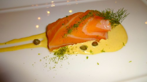 Salmon with Tonnato Sauce and Capers (7.5/10).