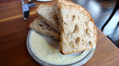 Sourdough Bread with House Cultured Butter.