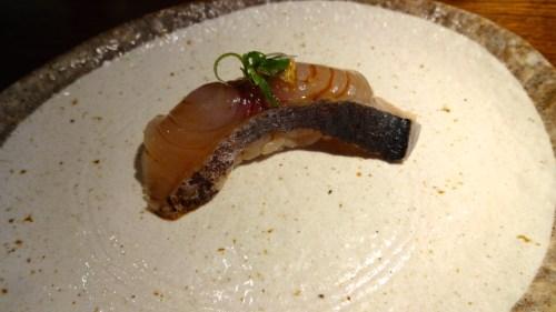 Aji/Spanish Mackerel Nigiri (8/10).